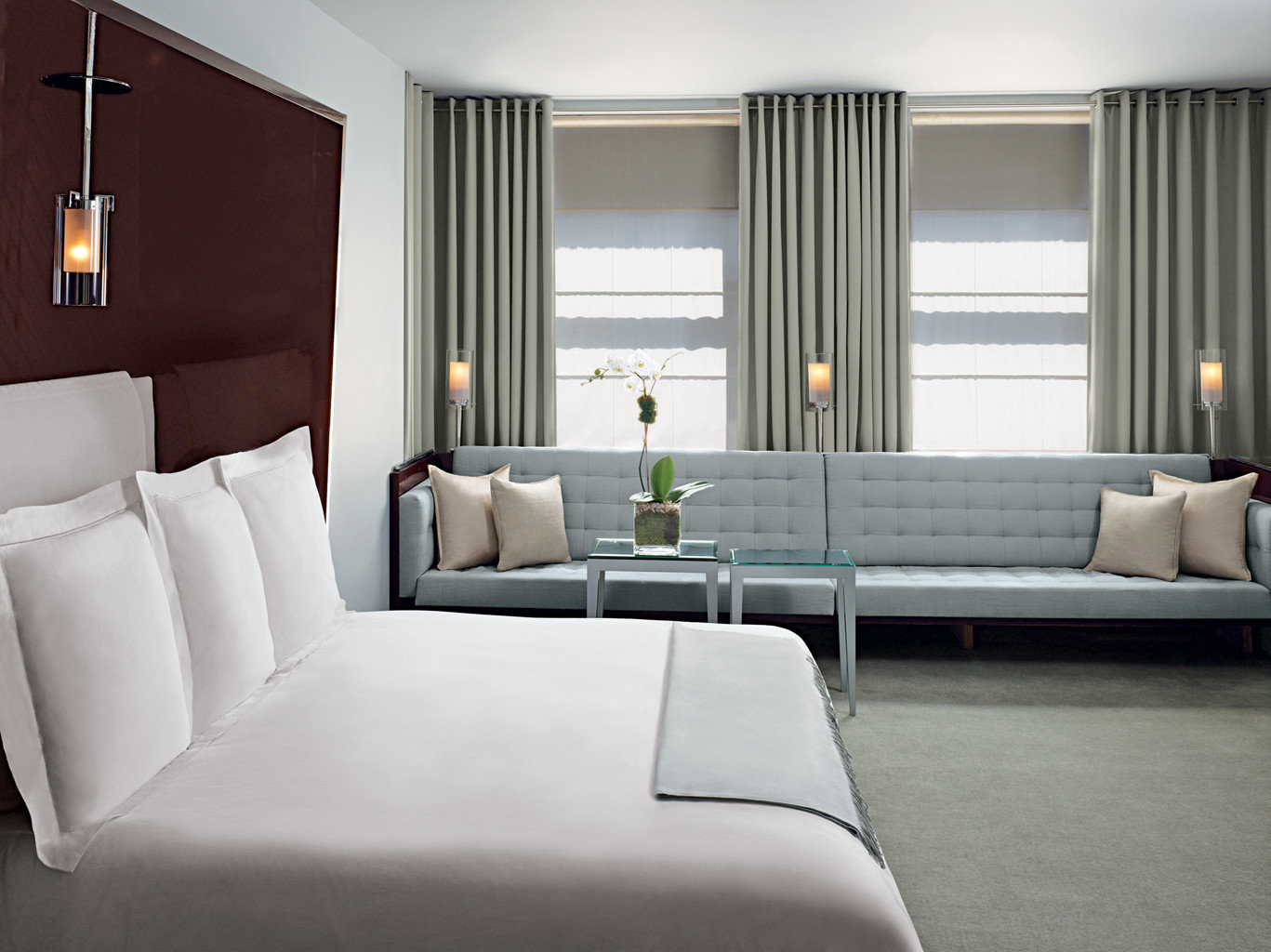 Bedroom Boutique City Hotels Luxury Trip Ideas sofa property living room white Suite home couch condominium pillow