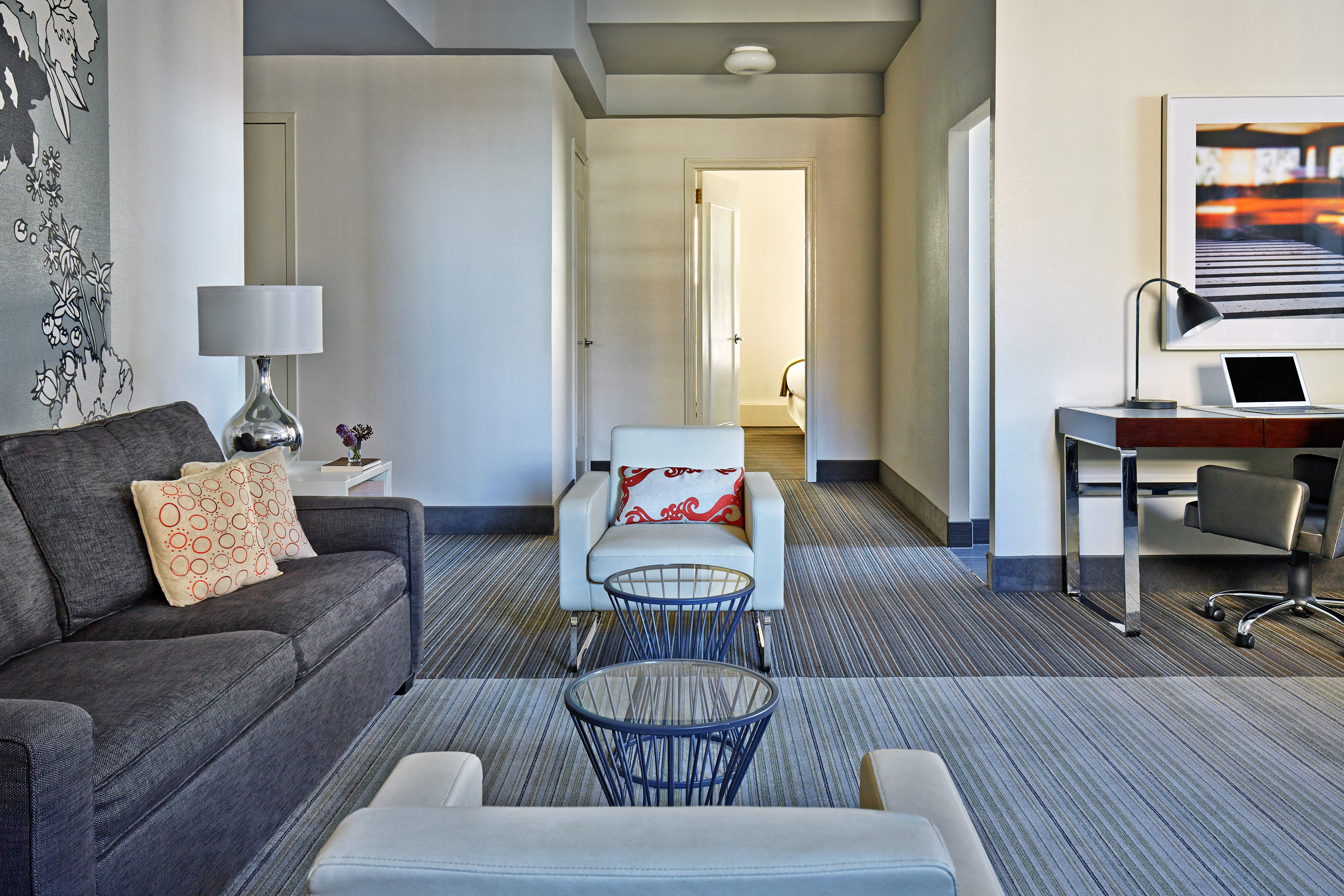 Boutique City Modern property living room home Suite condominium cottage Bedroom colored