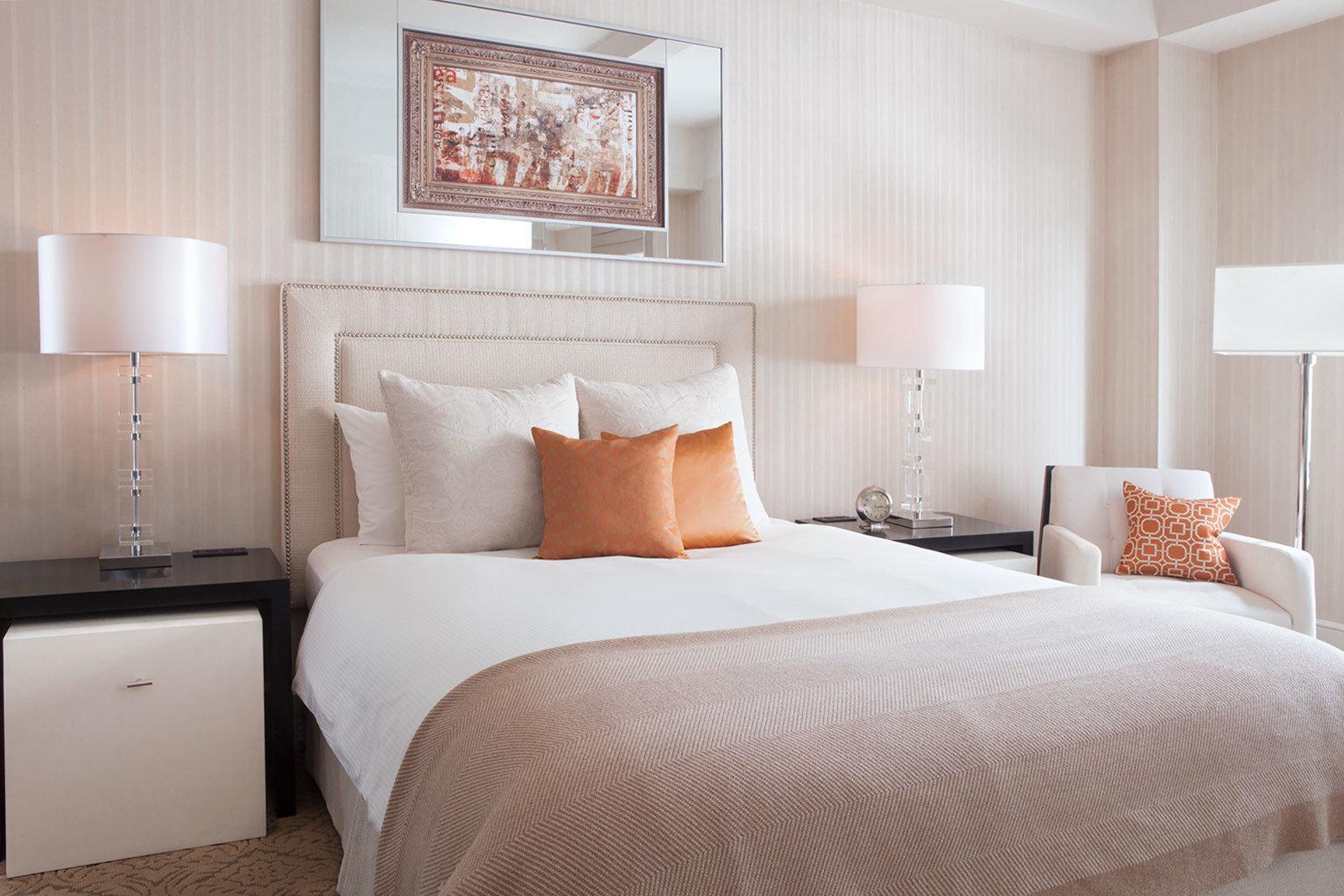 Bedroom Boutique City Modern Offbeat sofa property Suite scene bed sheet orange bed frame pillow cottage duvet cover lamp