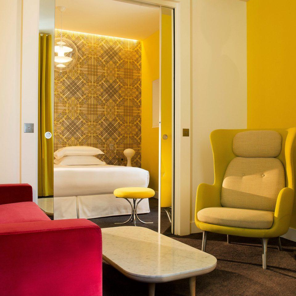 Bedroom Boutique City Modern yellow property waiting room Suite living room condominium