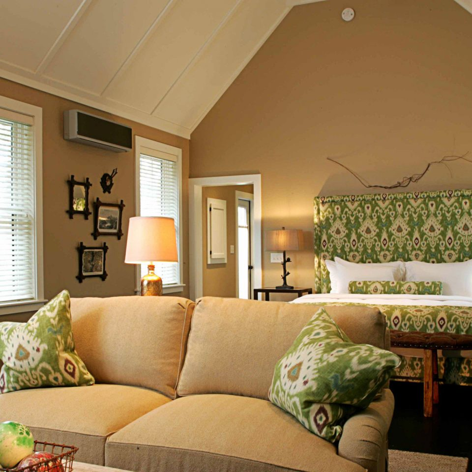 Bedroom Boutique Country Outdoors Romantic sofa living room property home green hardwood cottage farmhouse