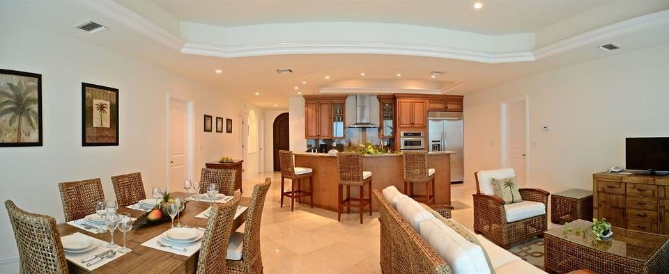 Boutique Dining Kitchen Modern Waterfront property chair living room Villa home Suite cottage condominium mansion Bedroom