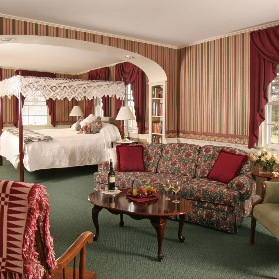 Bedroom Boutique Hotels Classic Country Hotels Inn Romantic Getaways Romantic Hotels Suite sofa chair living room curtain home