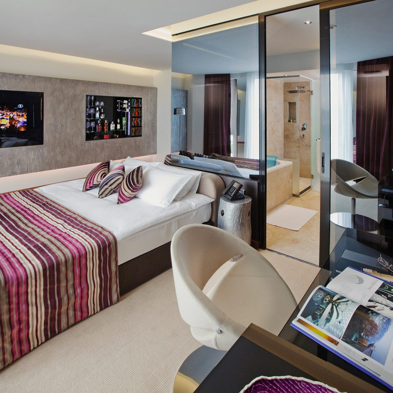 Bedroom Boutique Luxury Modern property living room Suite home
