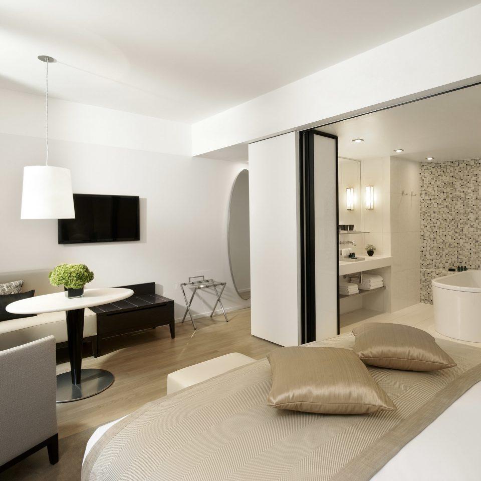 Bedroom Boutique Luxury Modern sofa property condominium living room Suite white home pillow flat