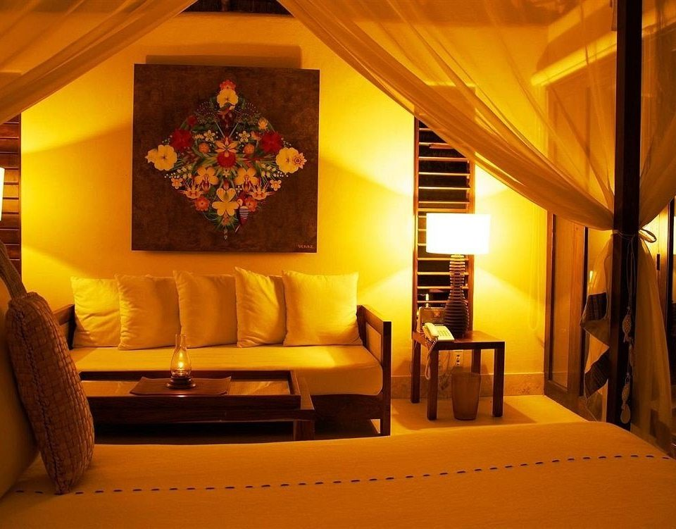 Bedroom Boutique Modern Tropical Suite living room Resort home Villa