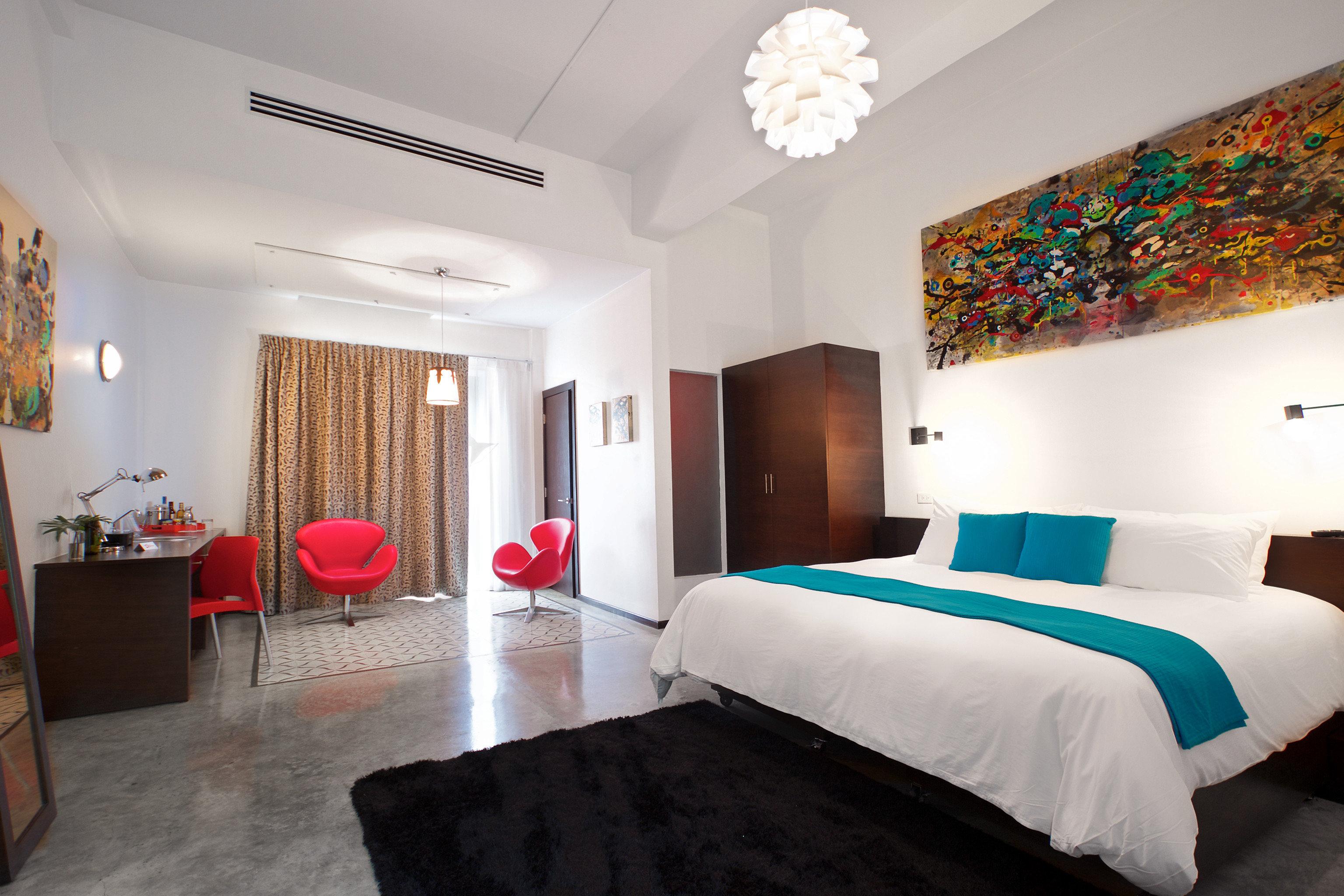 Bedroom Boutique Modern property scene cottage Suite Villa living room painting