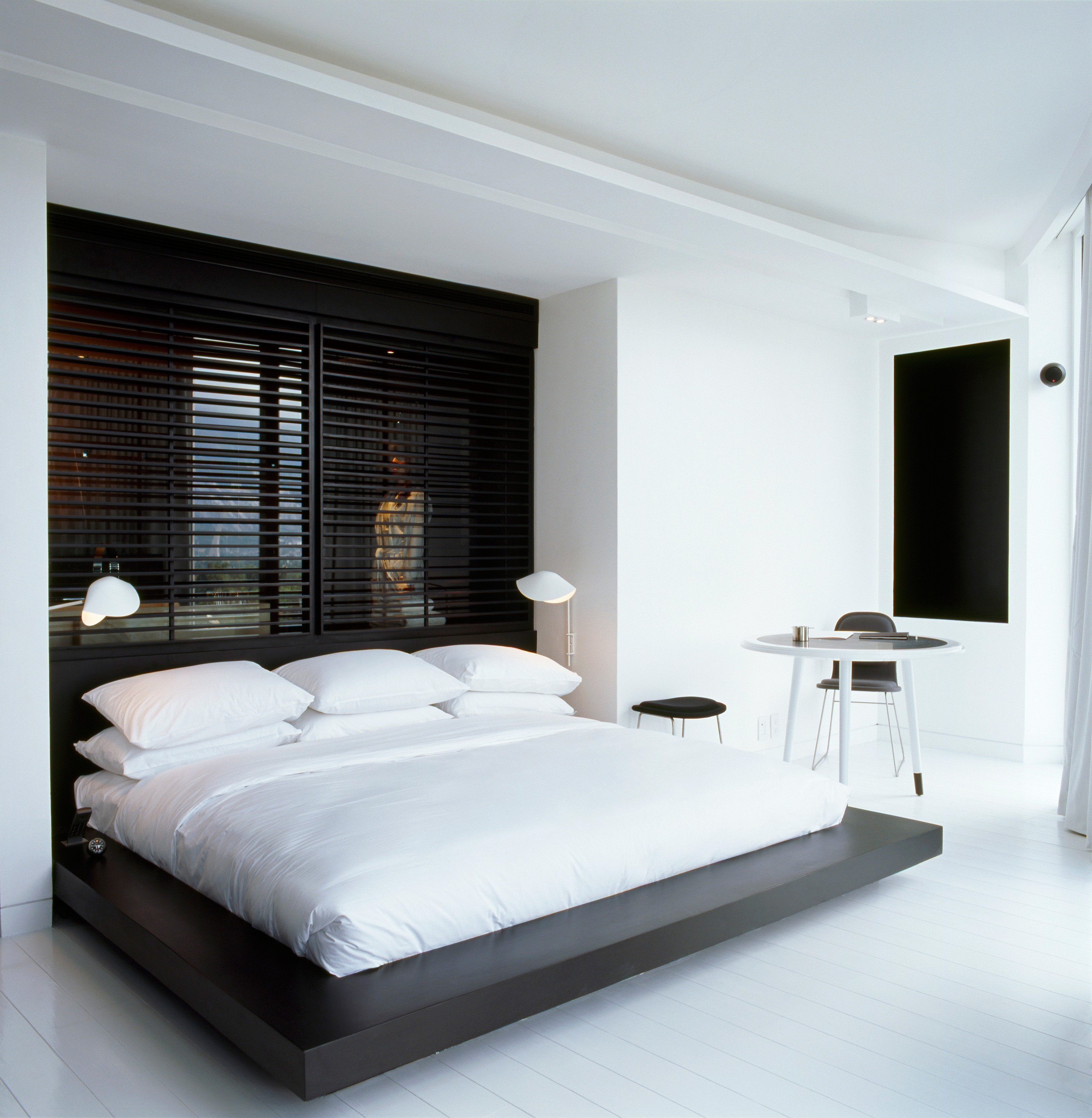 Bedroom Boutique Modern property white Suite living room bed frame condominium