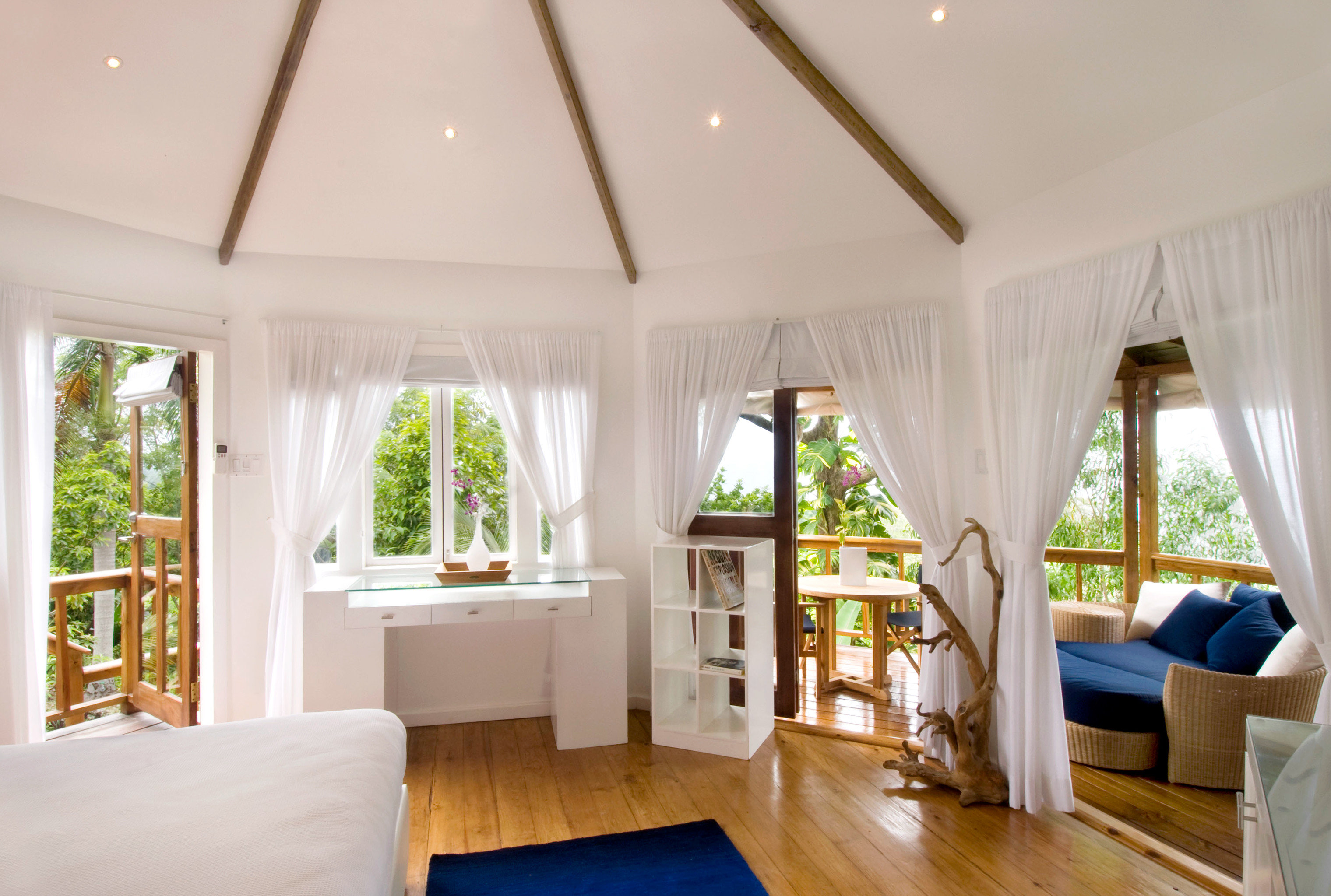 Bedroom Boutique Scenic views Suite Tropical property living room Resort home Villa cottage farmhouse