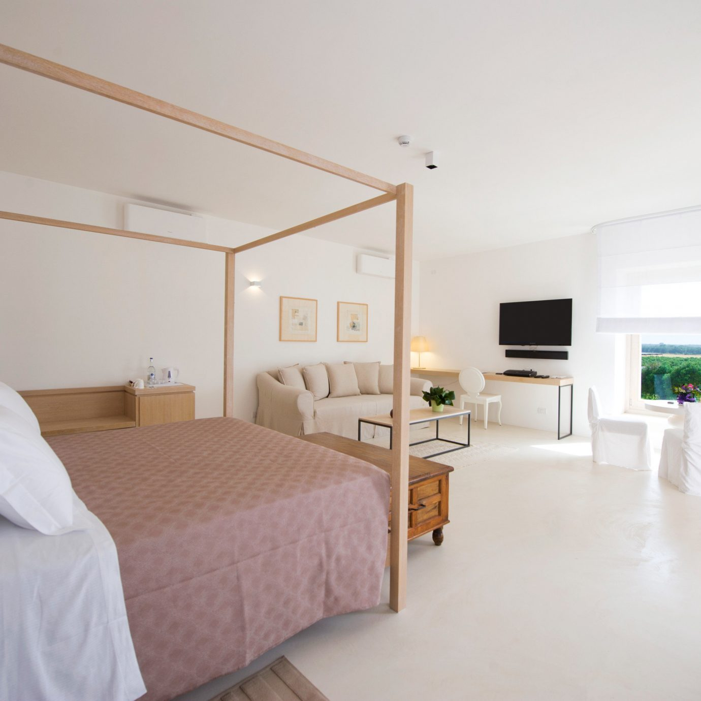 Bedroom Boutique property Suite white cottage Villa