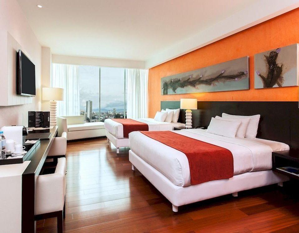 Bedroom Budget Modern sofa property living room Suite hardwood condominium home bed sheet orange flat