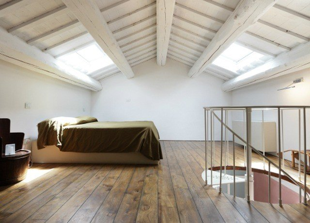 property building daylighting flooring loft wood flooring Bedroom living room