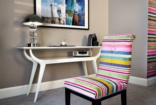 striped chair living room colorful desk shelf Bedroom colored