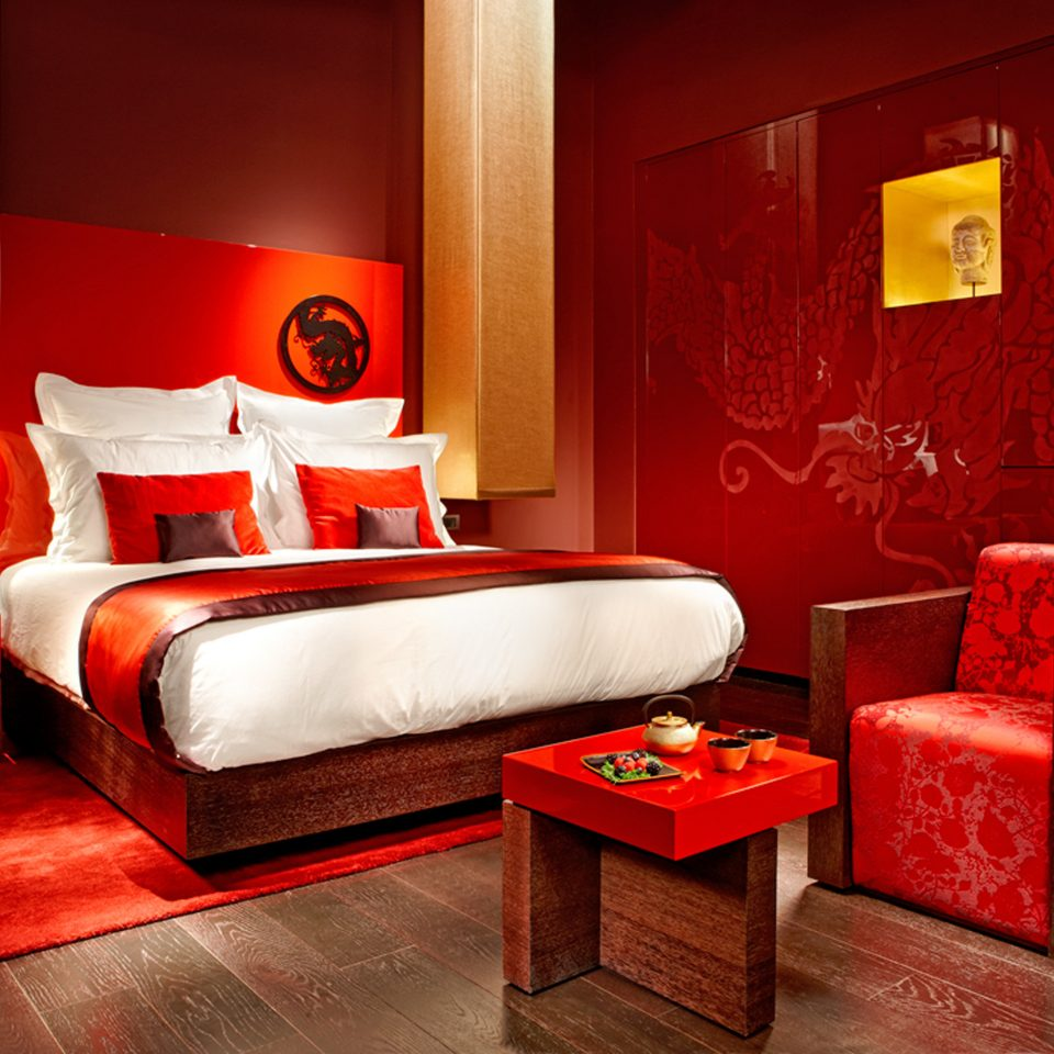 Bedroom City Cultural Modern red sofa Suite orange