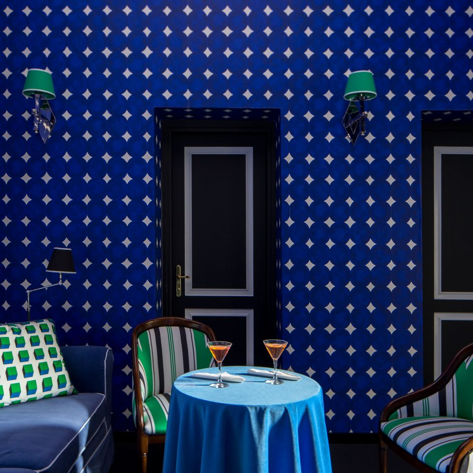 City Drink Eat Lounge Modern blue green lighting colorful Bedroom colored