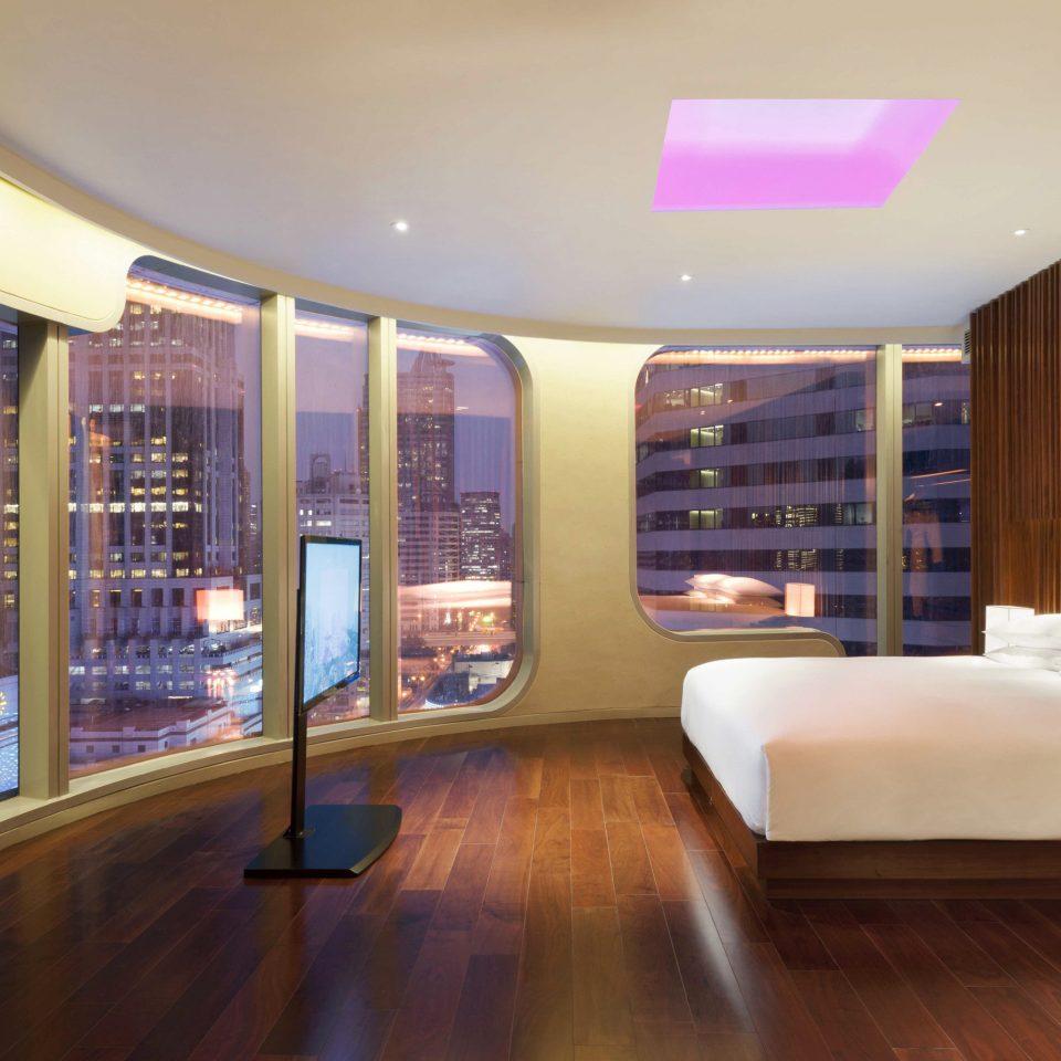 Bedroom City Elegant Hip Luxury Modern Scenic views Suite property Lobby condominium