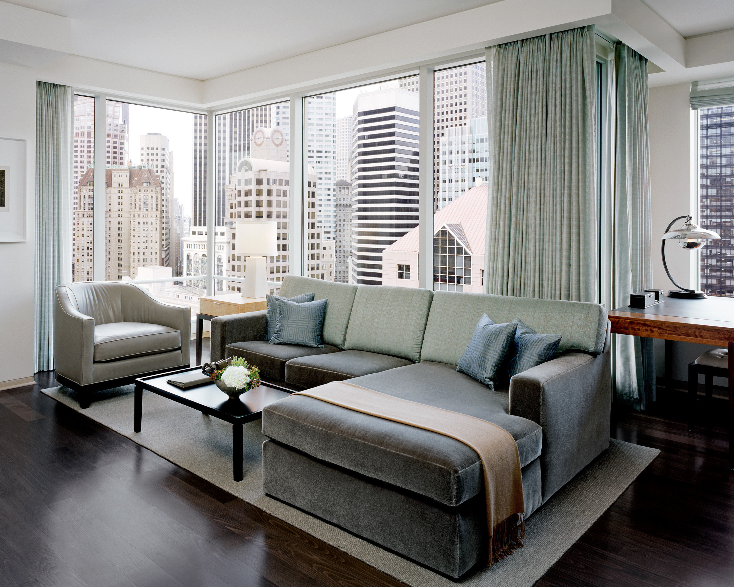City Elegant Lounge Modern Scenic views sofa living room property Bedroom home hardwood condominium bed frame