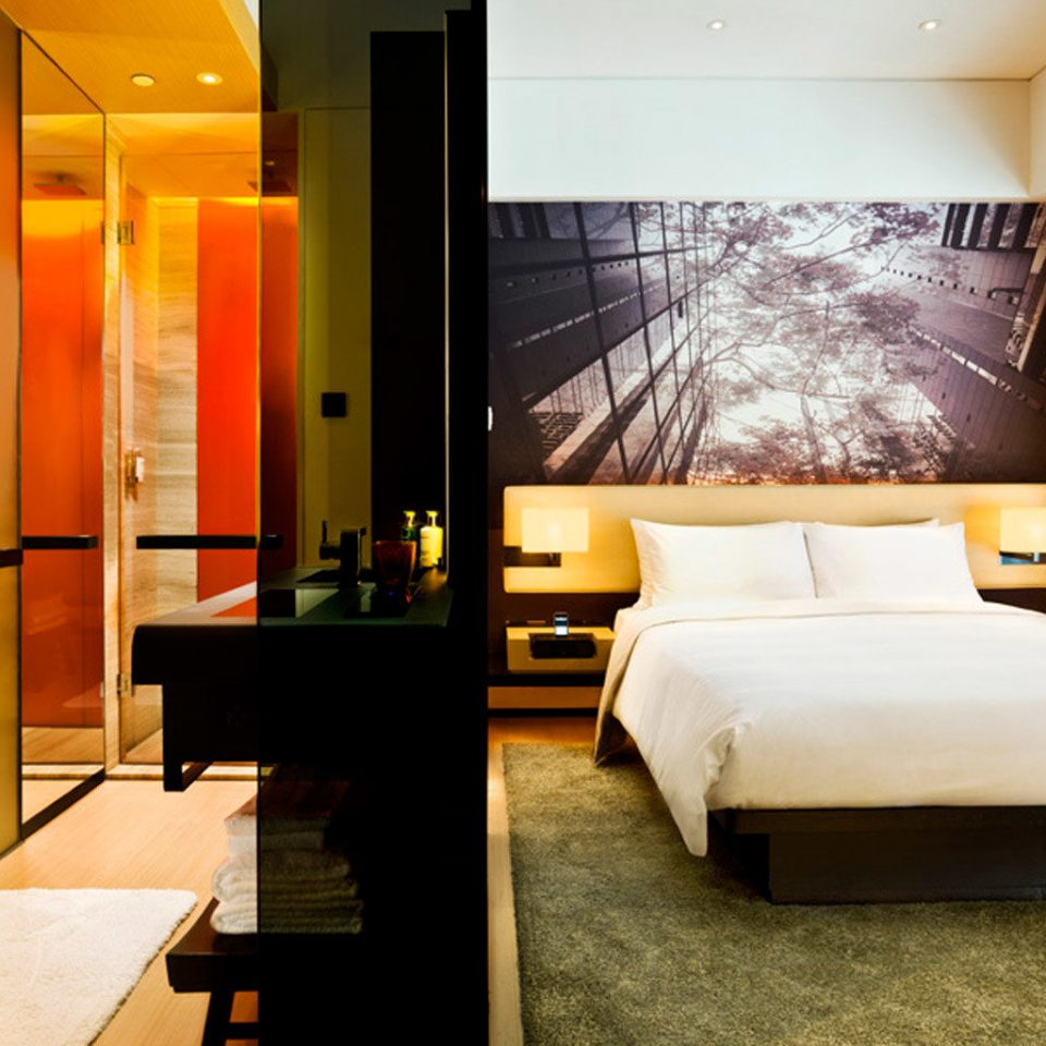Bedroom City Family Modern property Suite condominium living room Lobby