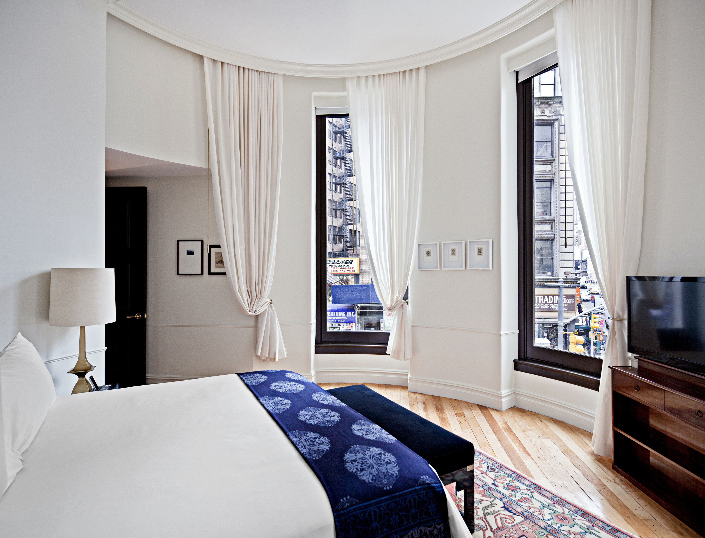Bedroom City Hip Hotels Luxury Luxury Travel NYC Offbeat Romantic Hotels Trip Ideas property home living room cottage Suite textile