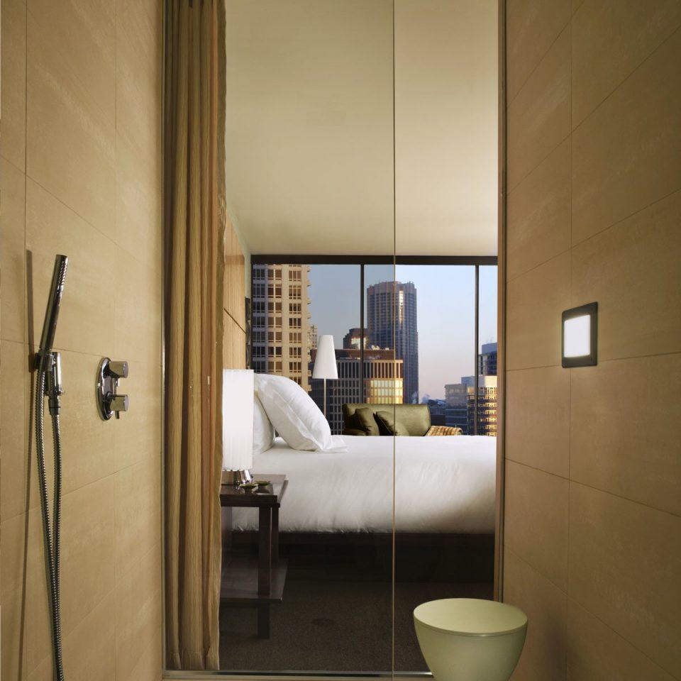 Bedroom City Hip Luxury Modern Scenic Views Suite Mirror Bathroom House Property Home Plumbing Fixture Living