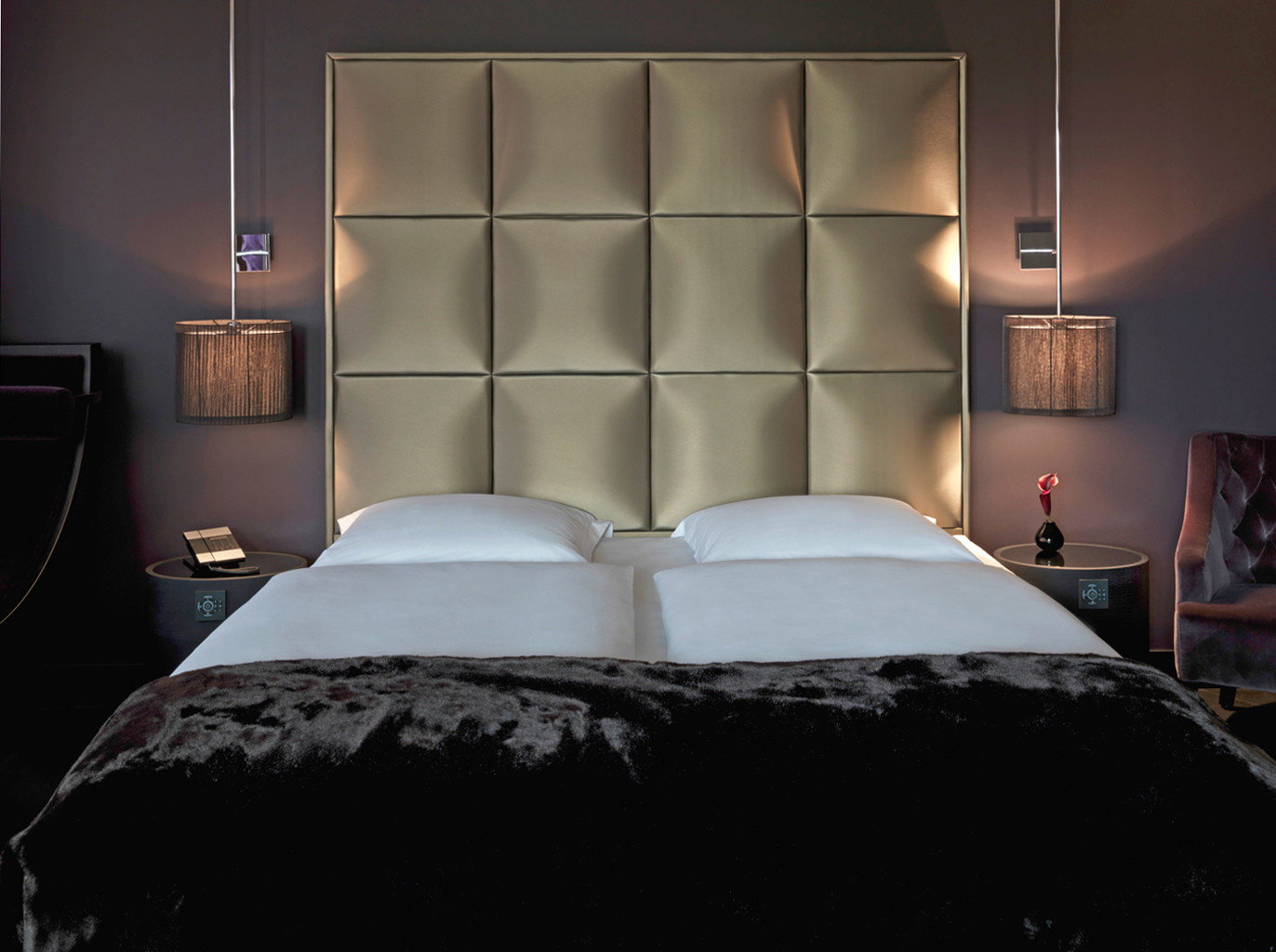 Bedroom City Hip Modern Scenic views bed sheet bed frame