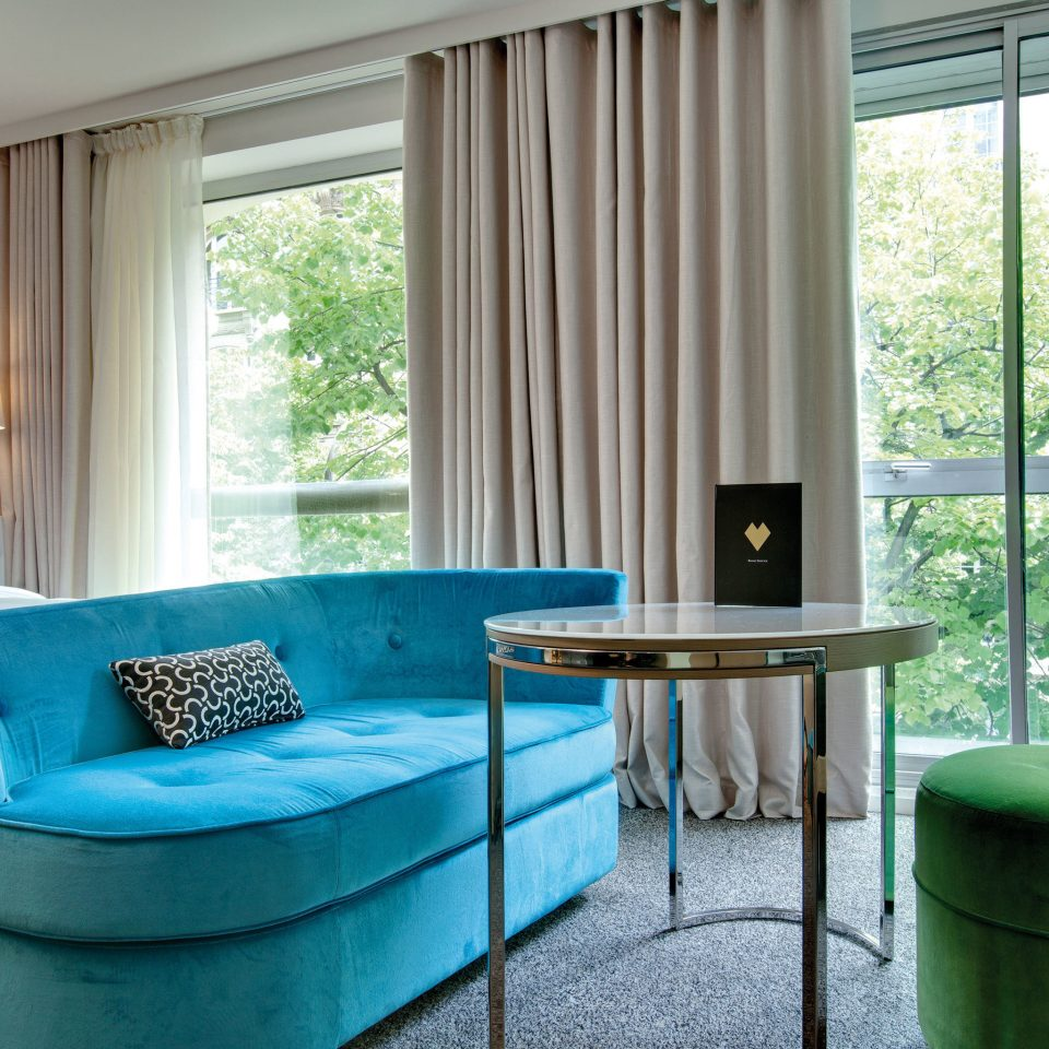 Bedroom City Hip Modern property house home living room swimming pool cottage Suite window treatment curtain blue
