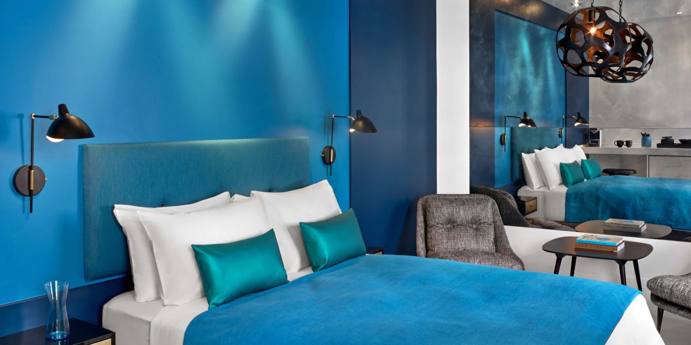 Bedroom City Hip Resort blue color living room Suite bright