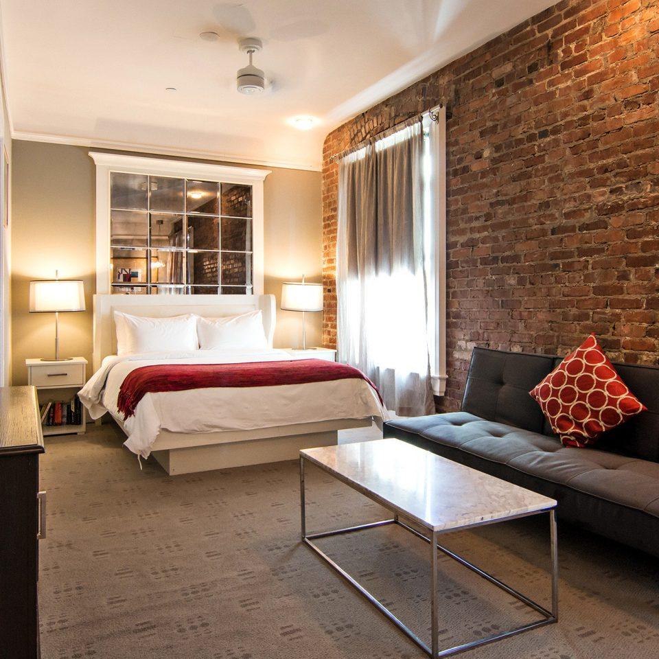 Bedroom City Hip property living room red home Suite cottage loft
