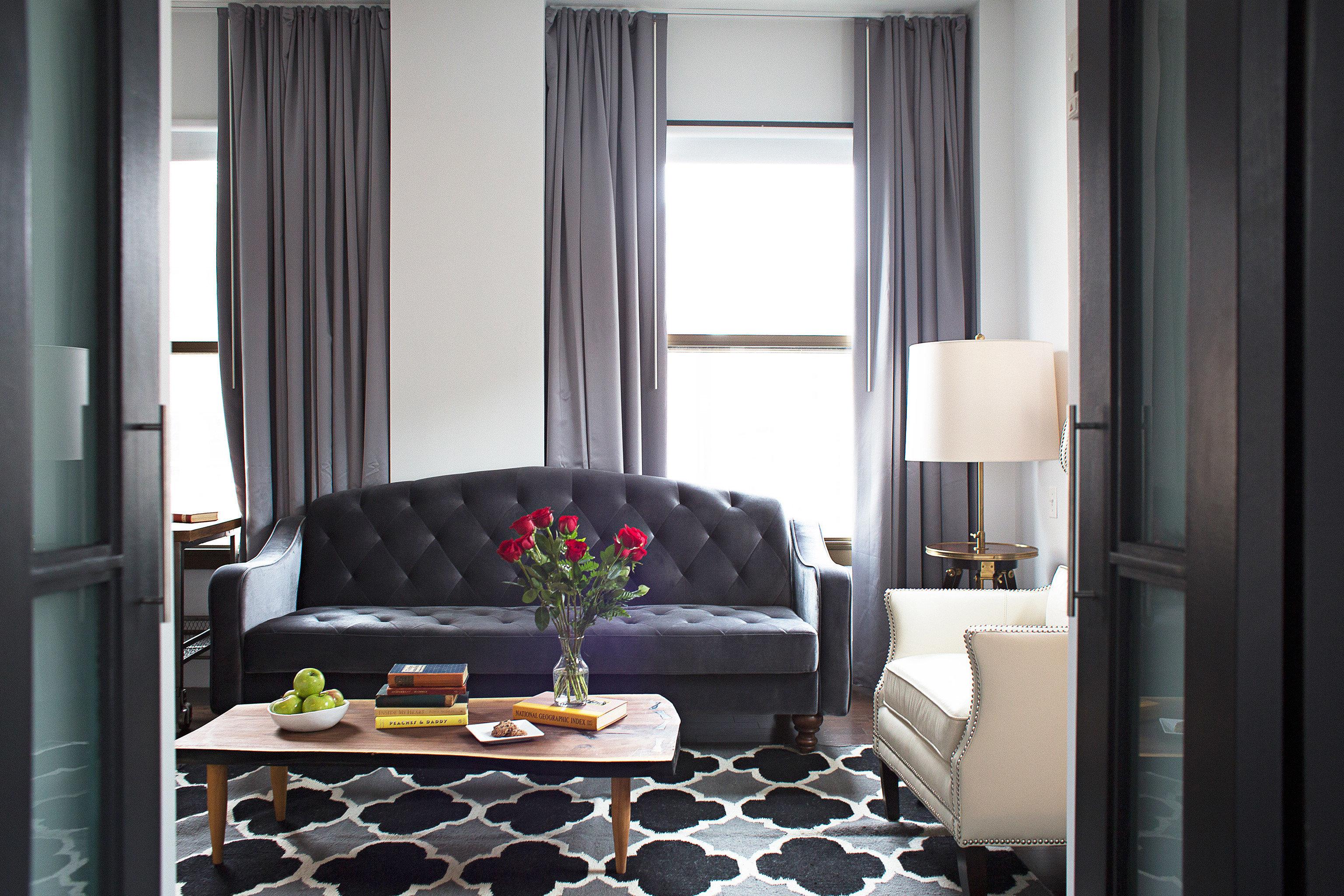 City Lounge Modern Suite property living room curtain home cottage window treatment textile Bedroom condominium