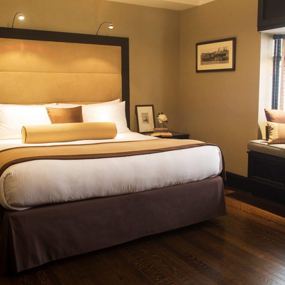 Bedroom City Modern property Suite hardwood bed frame bed sheet cottage living room