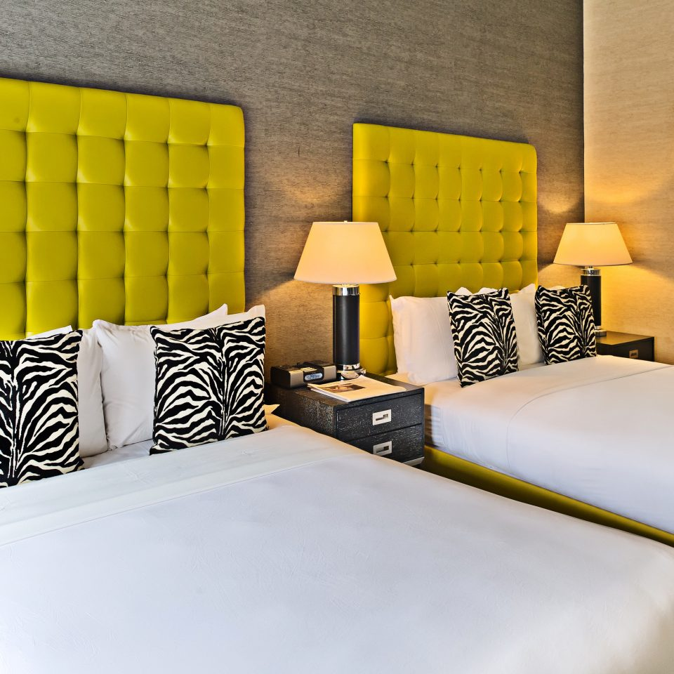 Bedroom City Modern yellow bed sheet Suite