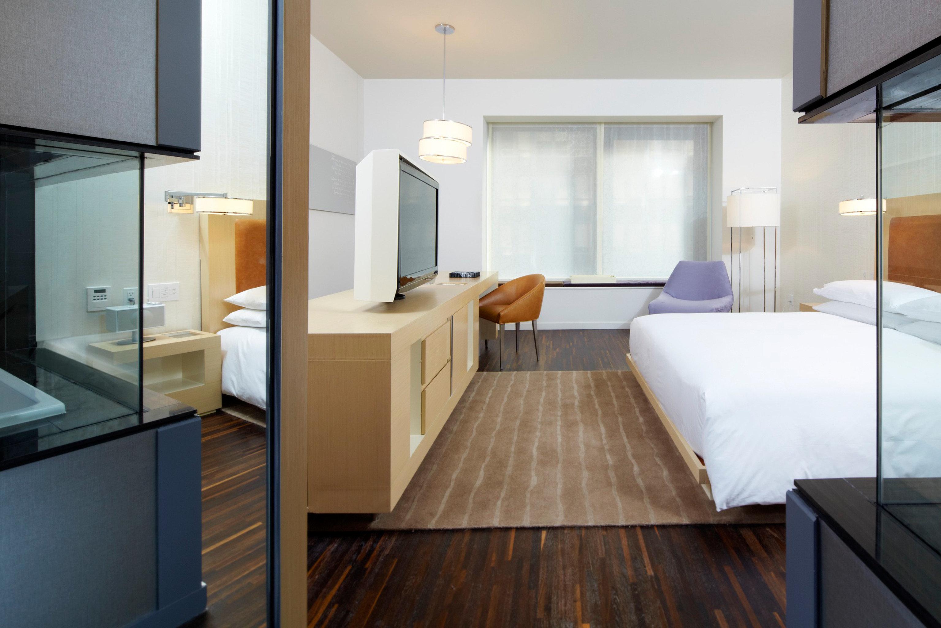 Bedroom City Modern property hardwood home Suite condominium wood flooring cottage flooring loft