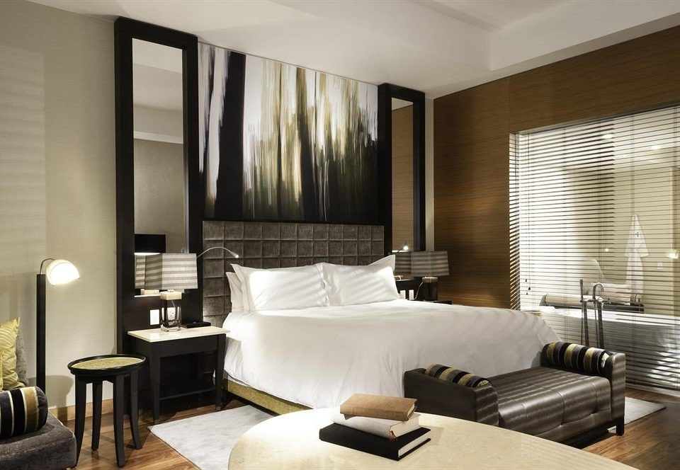 Bedroom City property Suite condominium living room nice Modern leather