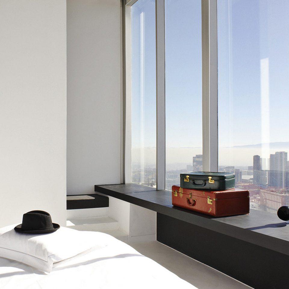 Bedroom City Scenic views lighting living room glass