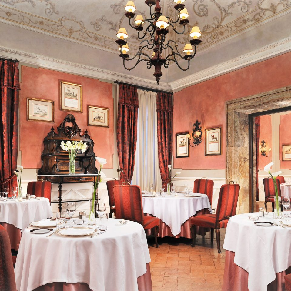 Classic Dining Drink Eat Elegant Historic Luxury Romance Romantic chair red function hall restaurant curtain palace ballroom mansion Bedroom