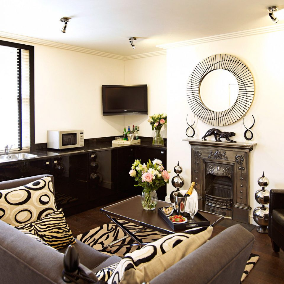 Classic Elegant Fireplace sofa property living room home Suite Bedroom cottage Modern leather