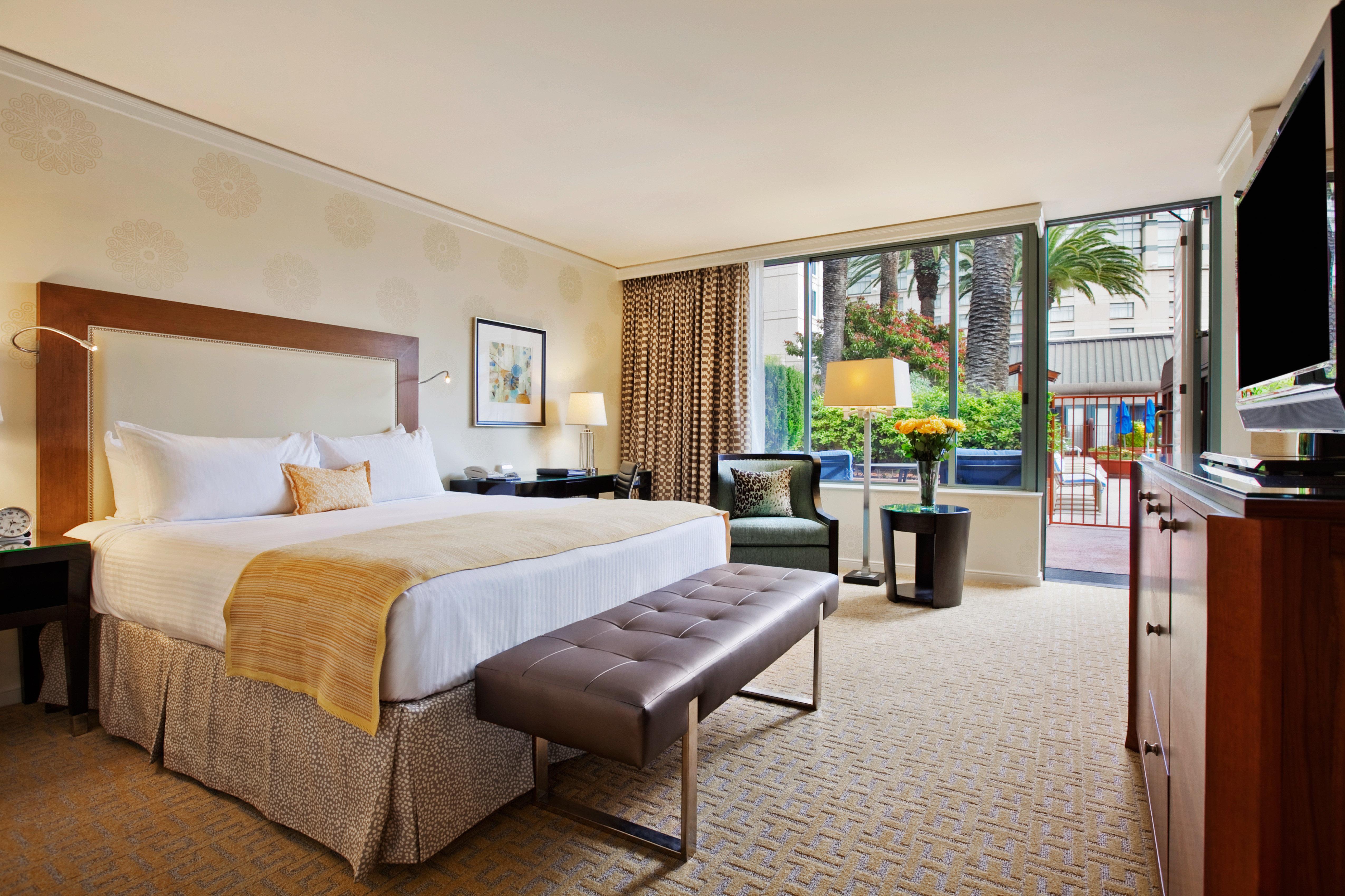 Bedroom Classic Hotels Luxury Travel Patio property Suite condominium home Villa hardwood cottage living room