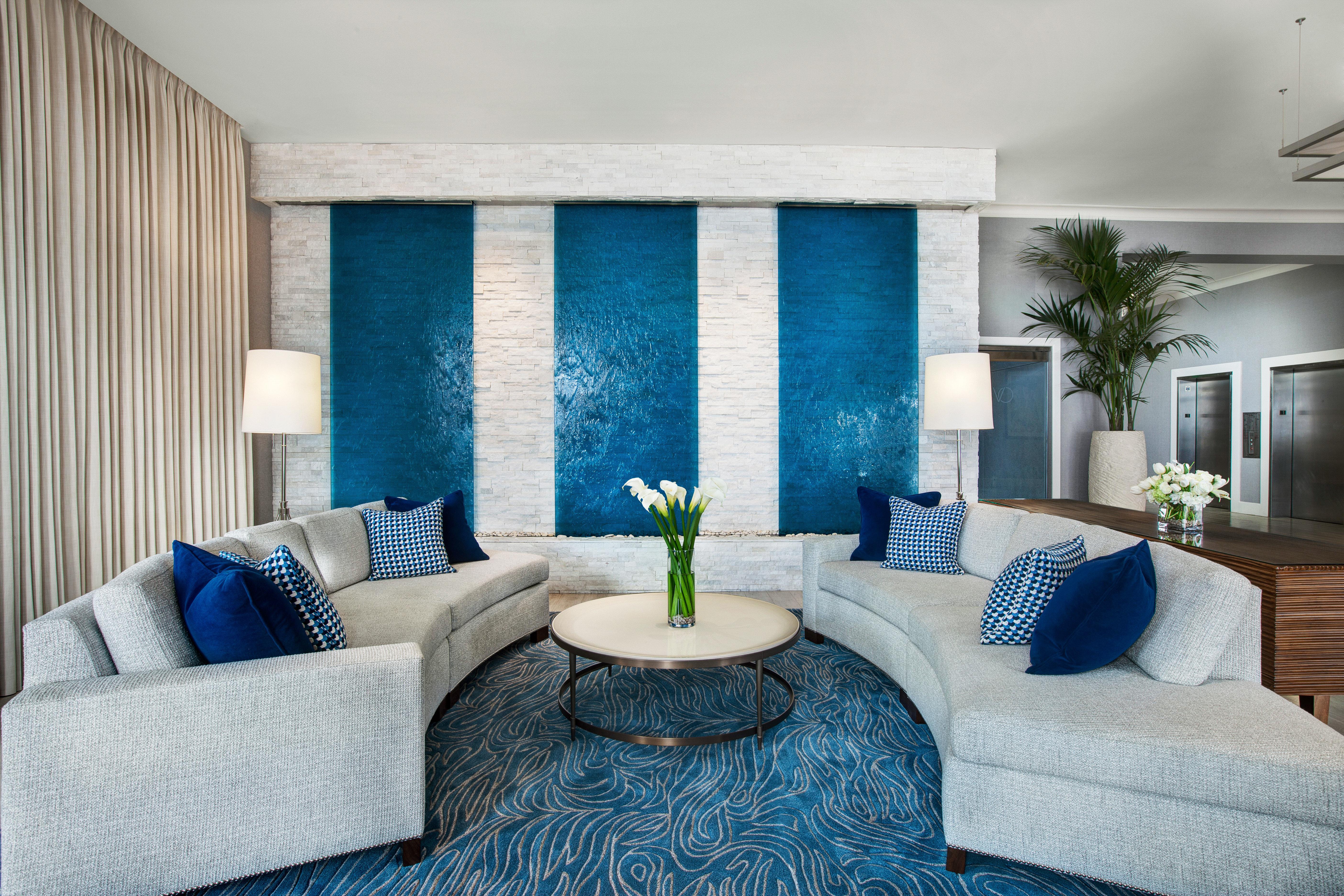 Classic Lounge living room property home Suite Bedroom cottage blue condominium
