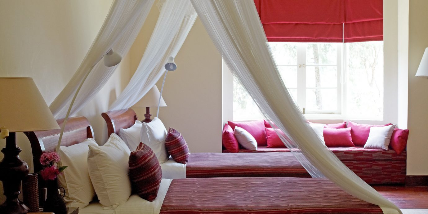 Bedroom Classic red Suite textile living room colored