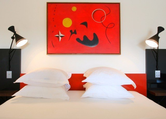 red modern art lighting illustration mural Bedroom orange colored