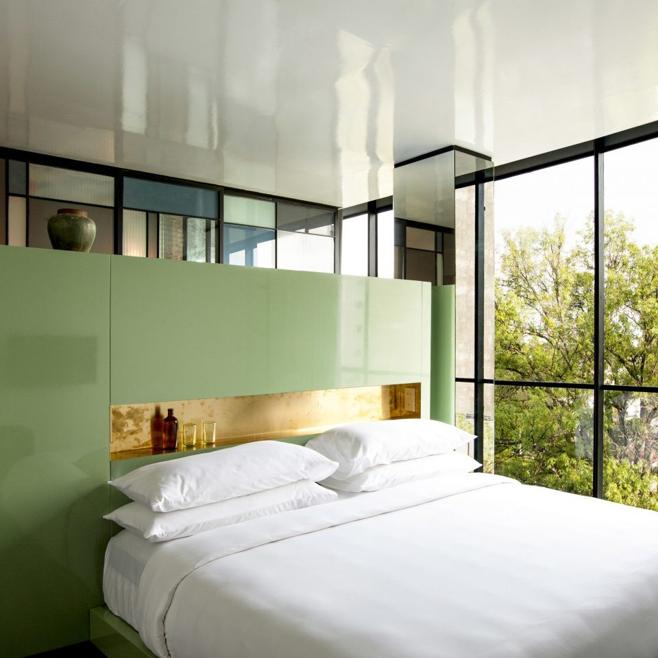 property green Bedroom condominium daylighting
