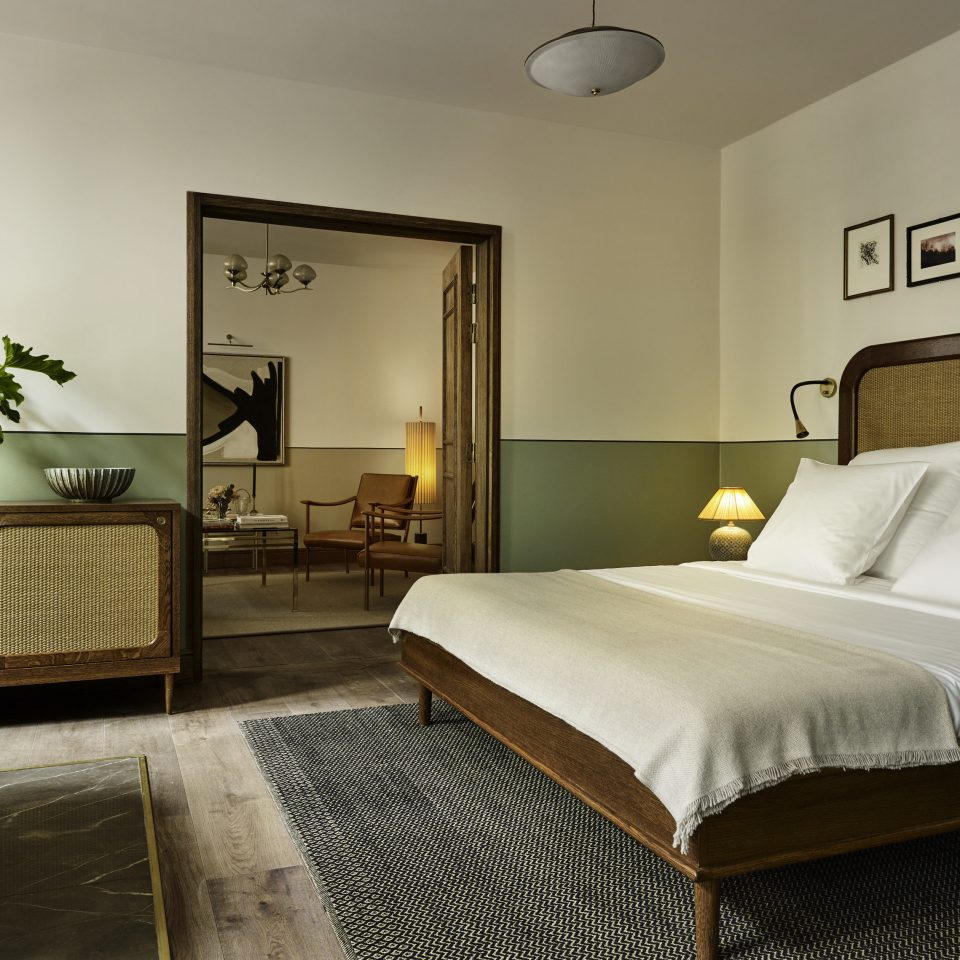 Copenhagen Denmark Hotels Trip Ideas Bedroom bed frame Suite tan