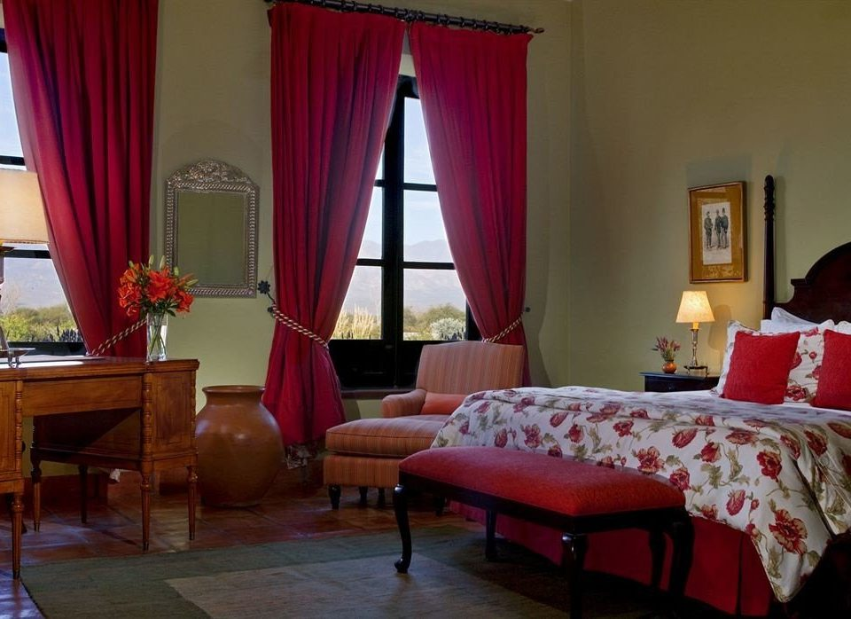 curtain red property living room cottage Bedroom