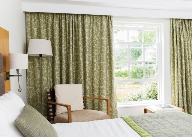 Bedroom curtain window treatment textile material cottage