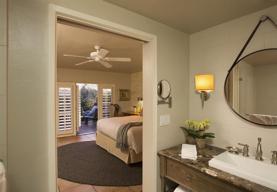 mirror property home sink living room cottage Bedroom
