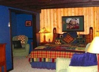 property cottage log cabin Bedroom