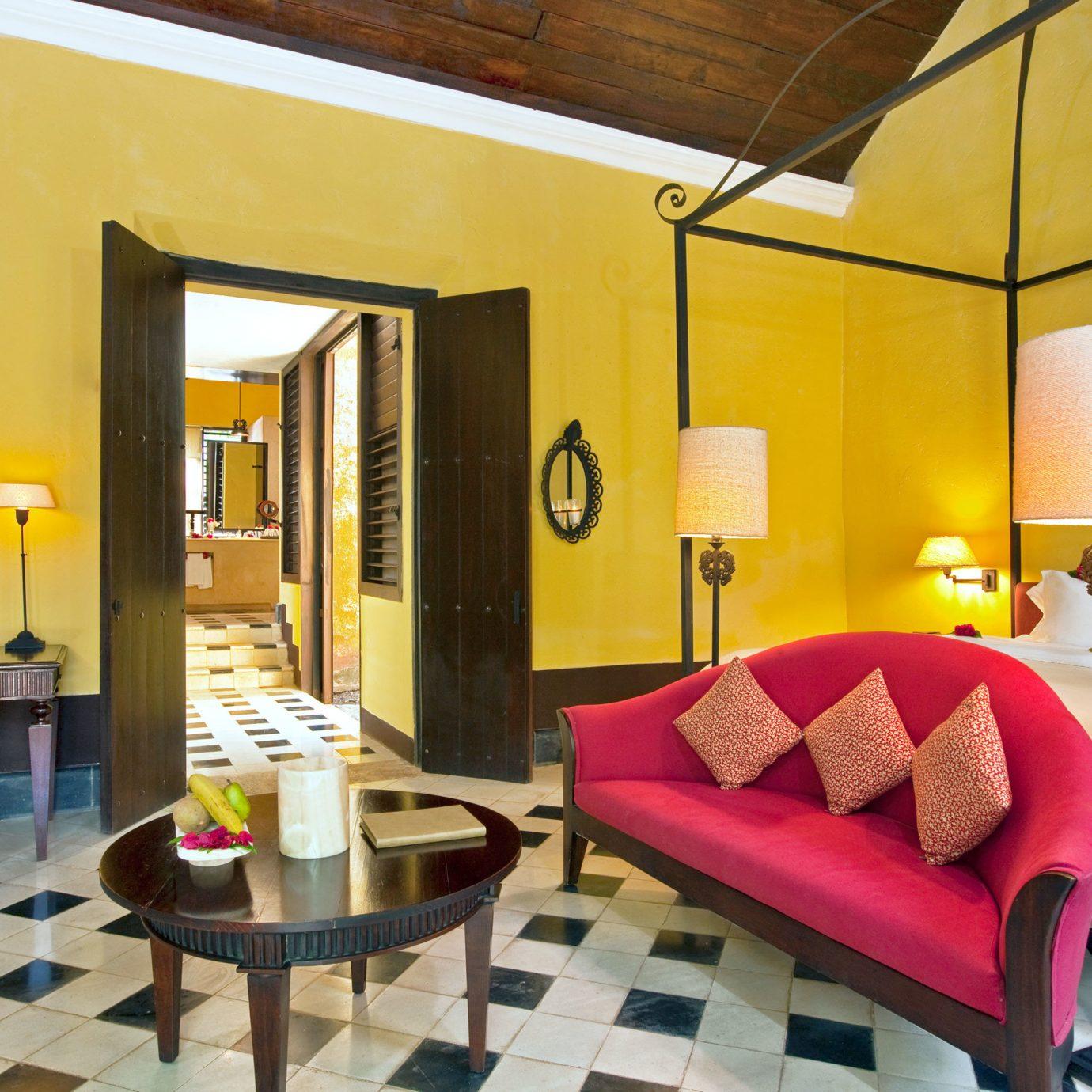 Bedroom Country Hip Luxury Rustic Suite color property living room red condominium home Villa loft Resort