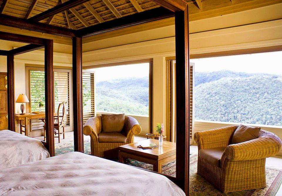 Bedroom Country Luxury Scenic views Villa property Resort home Suite cottage living room overlooking