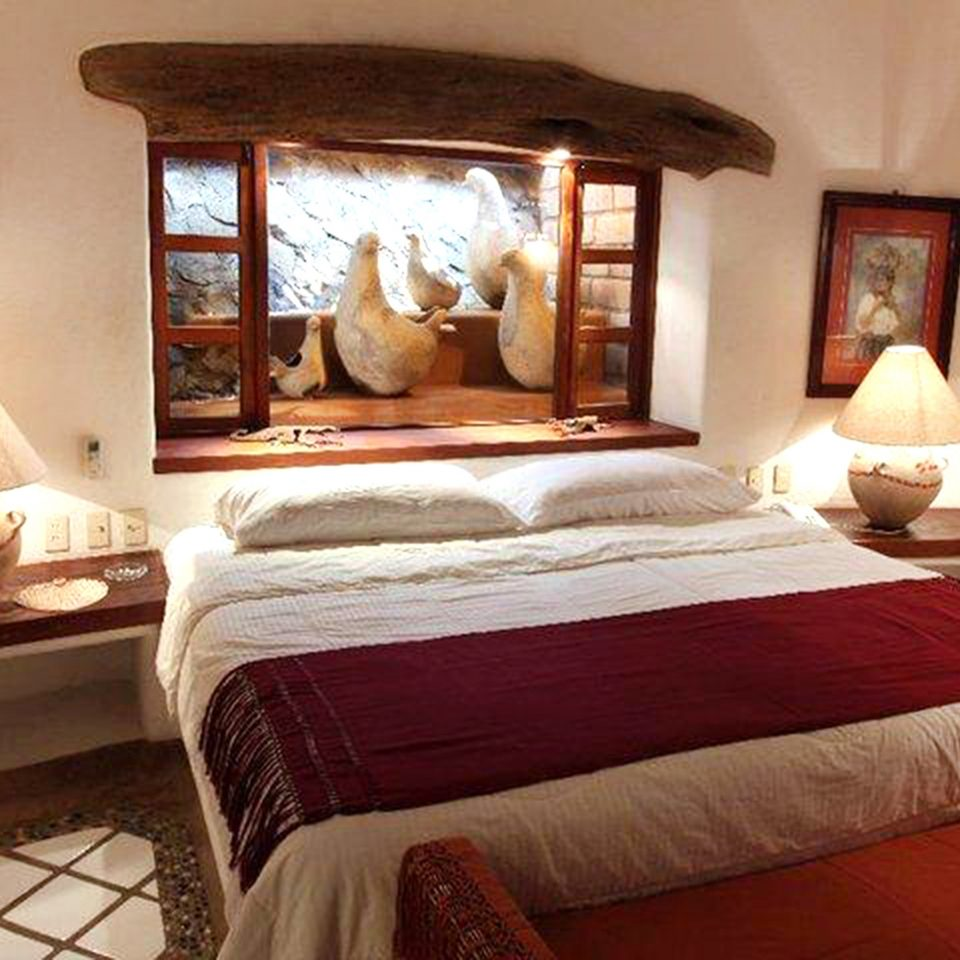 Bedroom Country Luxury Romantic Suite sofa property red building cottage Villa Resort