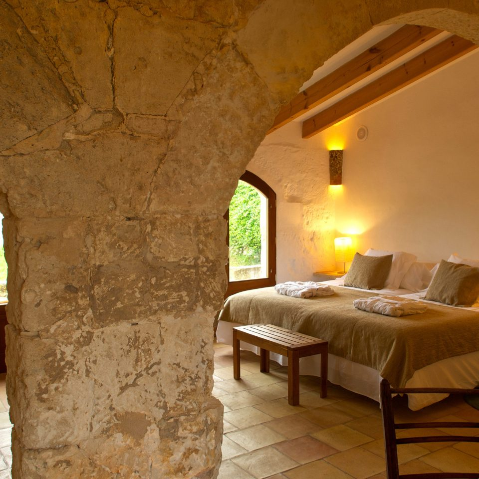 Bedroom Country Luxury Romantic Rustic property building house cottage Villa hacienda home farmhouse stone arch
